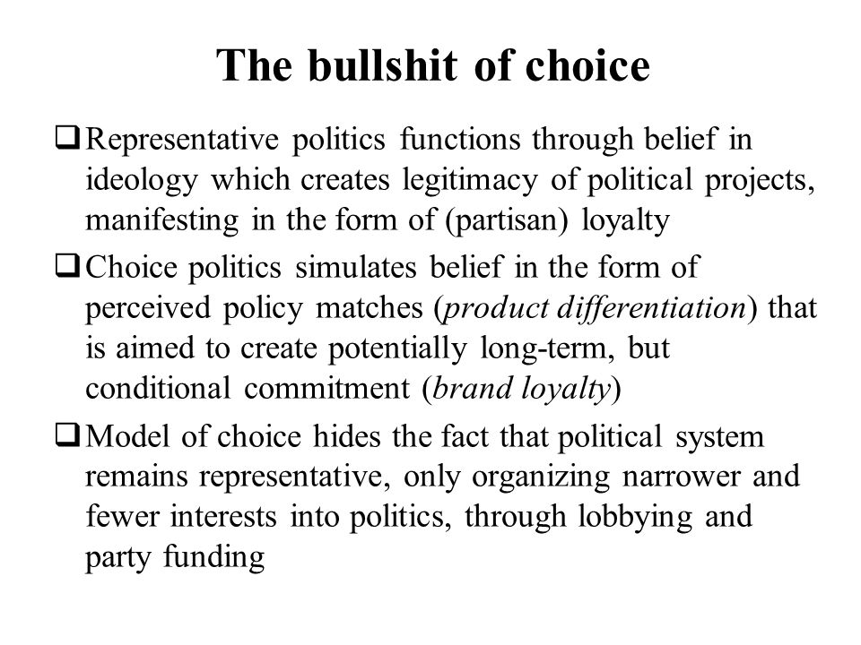 The bullshit of choice