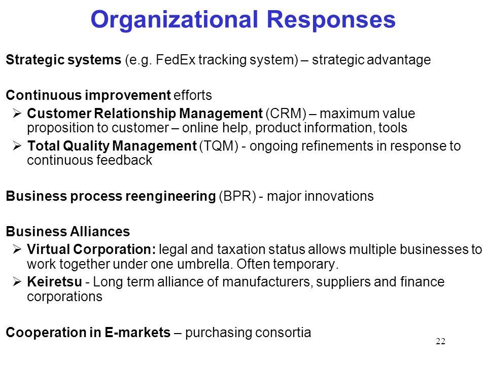 Organizational Responses