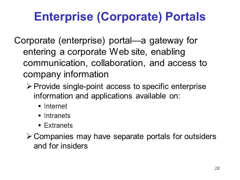 Enterprise (Corporate) Portals