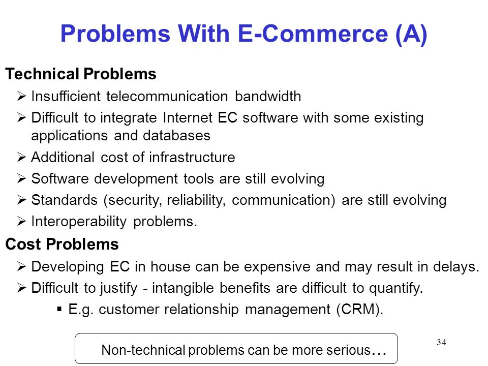 Problems With E-Commerce (A)
