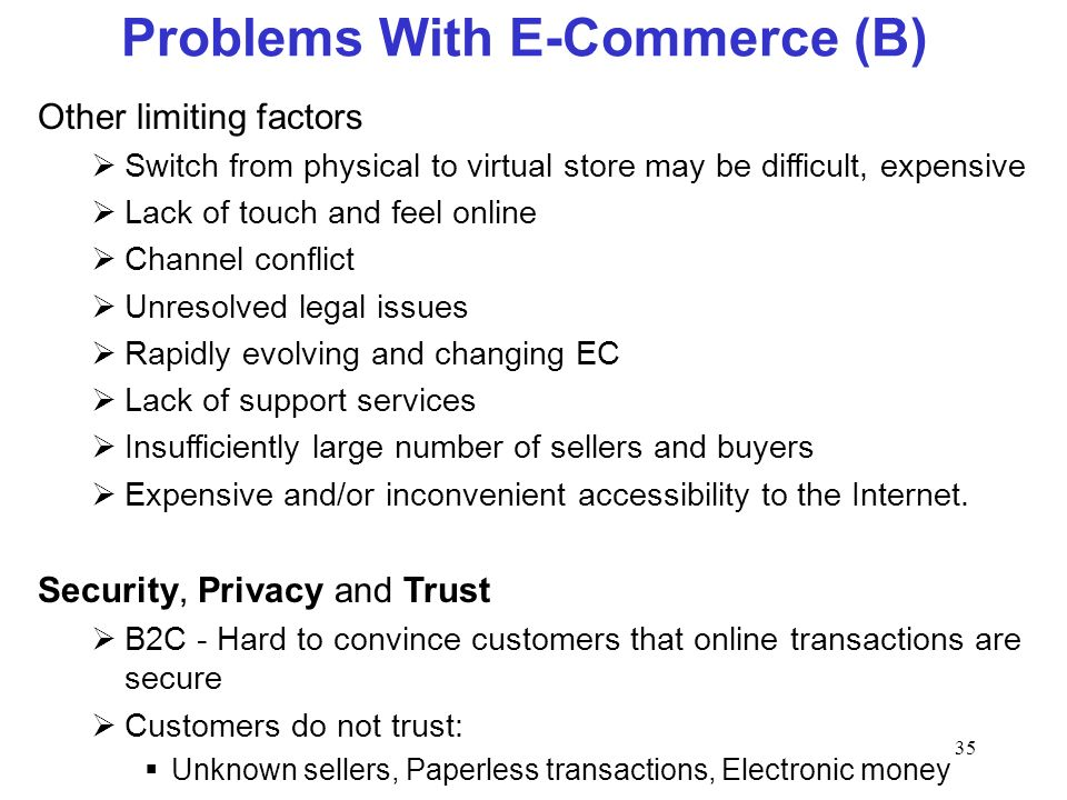 Problems With E-Commerce (B)