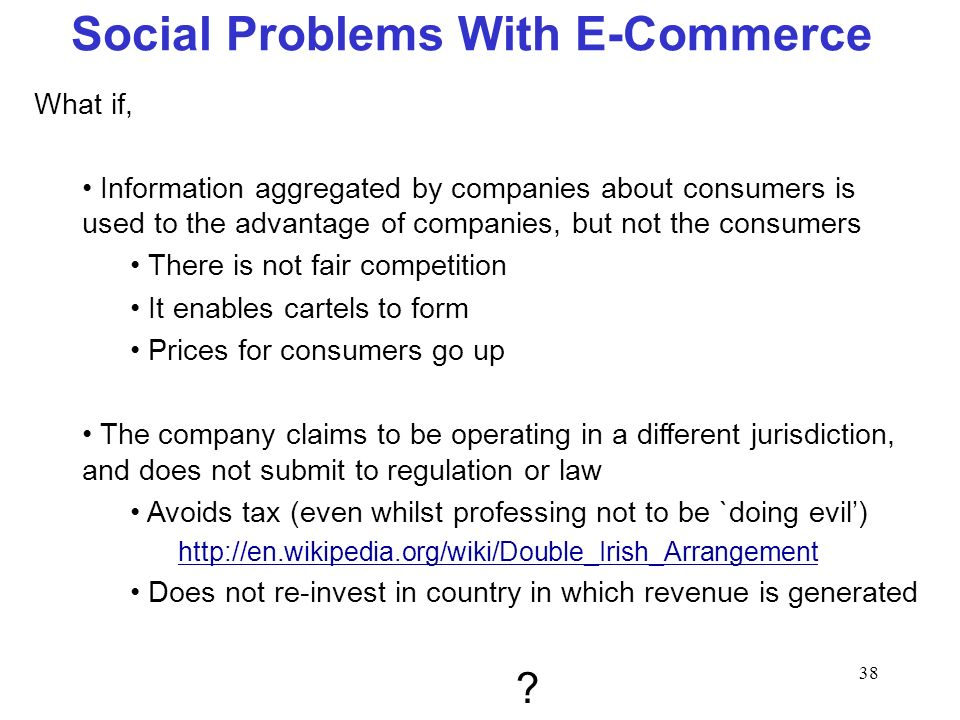 Social Problems With E-Commerce