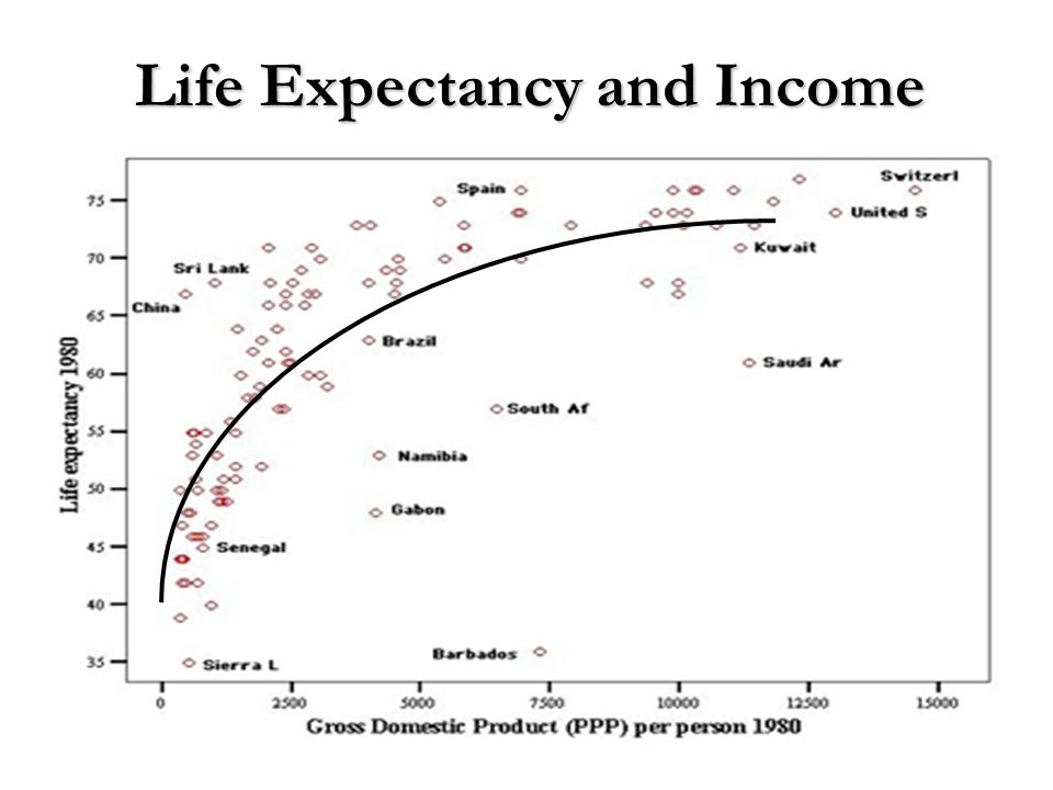 Life Expectancy and Income