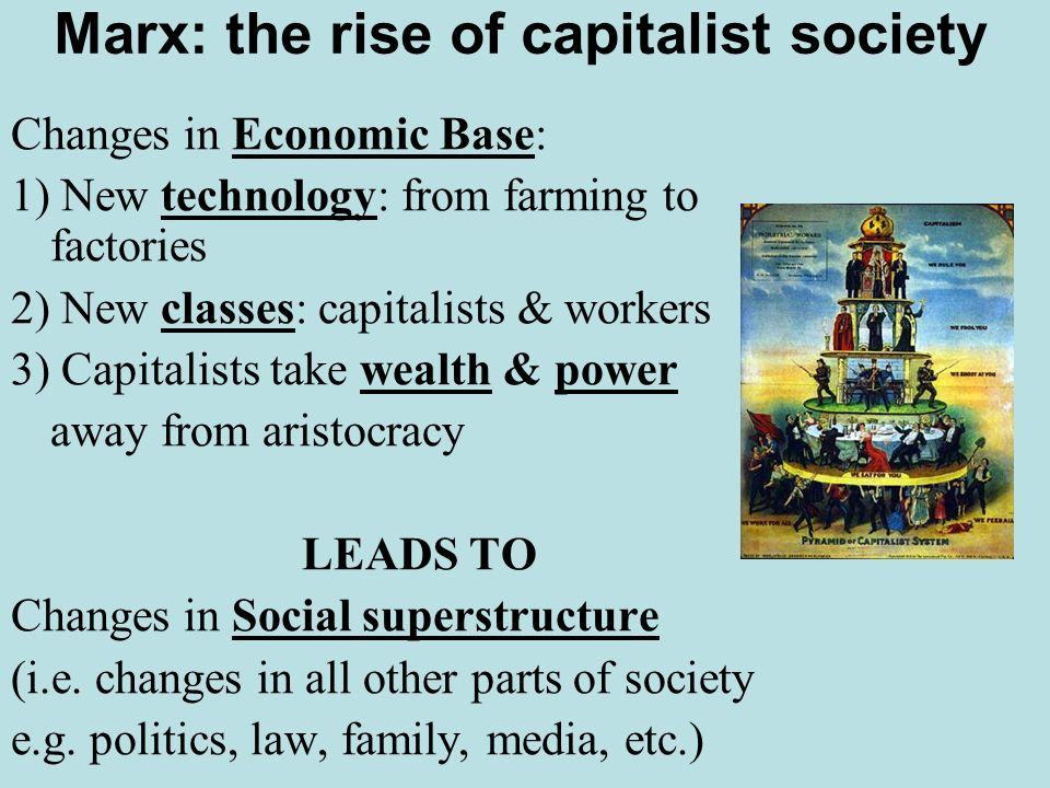 Marx: the rise of capitalist society