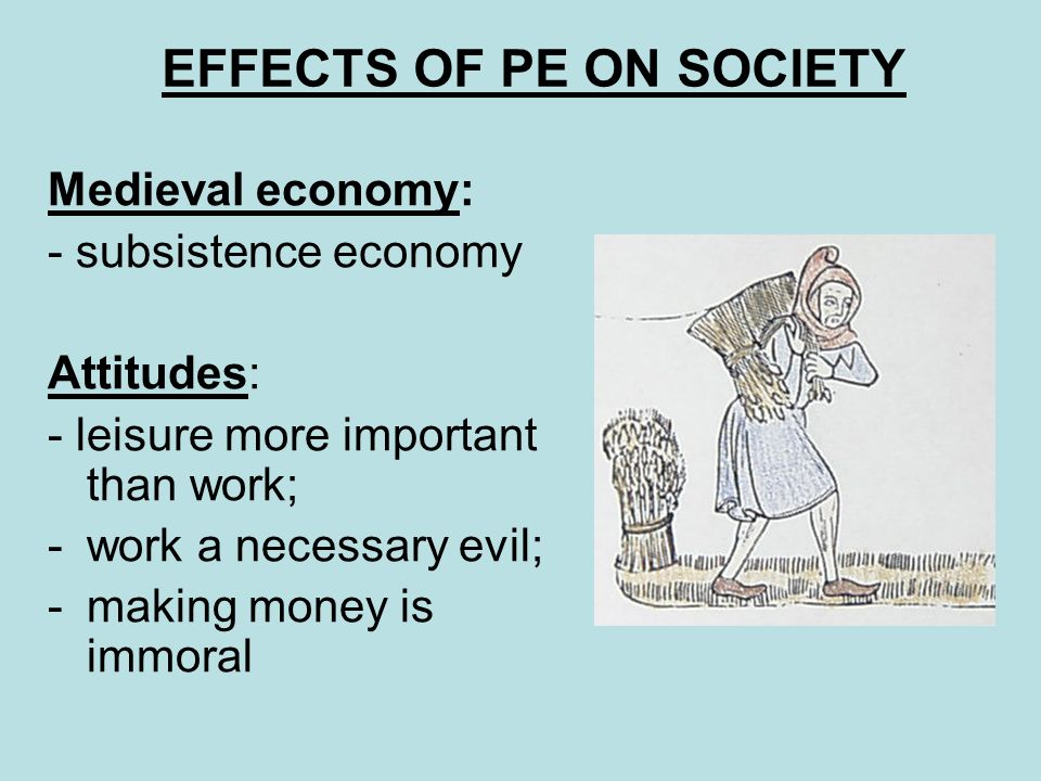 EFFECTS OF PE ON SOCIETY