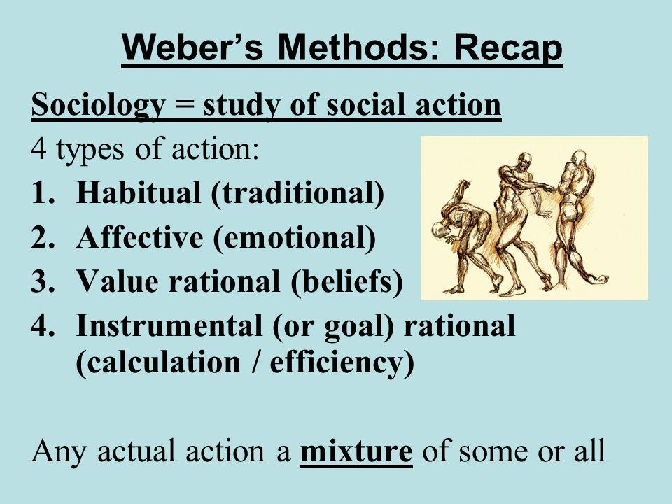 Weber's Methods: Recap