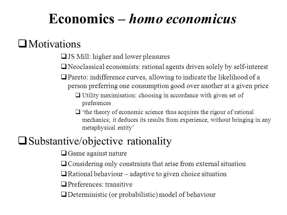 Economics – homo economicus
