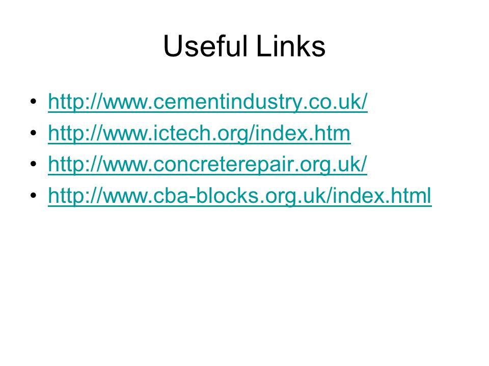 Useful Links http://www.cementindustry.co.uk/