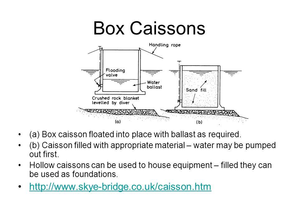 Box Caissons http://www.skye-bridge.co.uk/caisson.htm