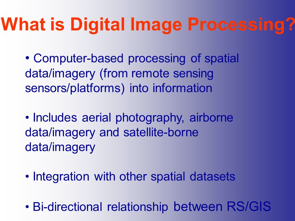 What is Digital Image Processing
