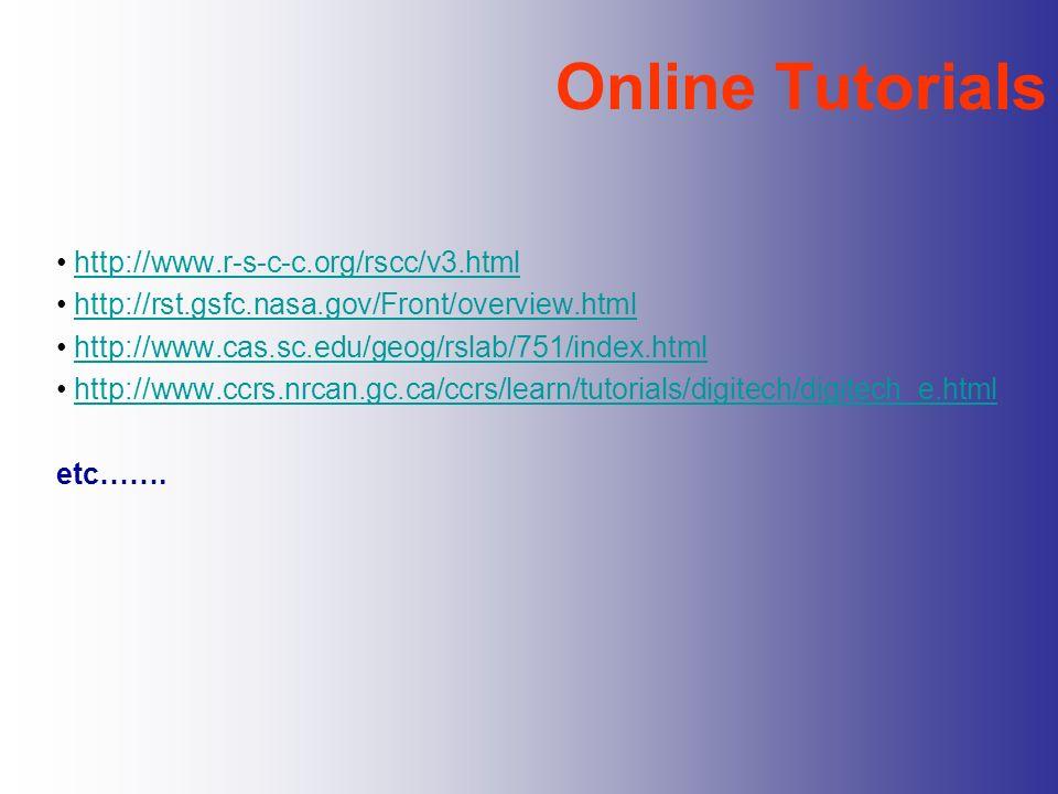 Online Tutorials http://www.r-s-c-c.org/rscc/v3.html