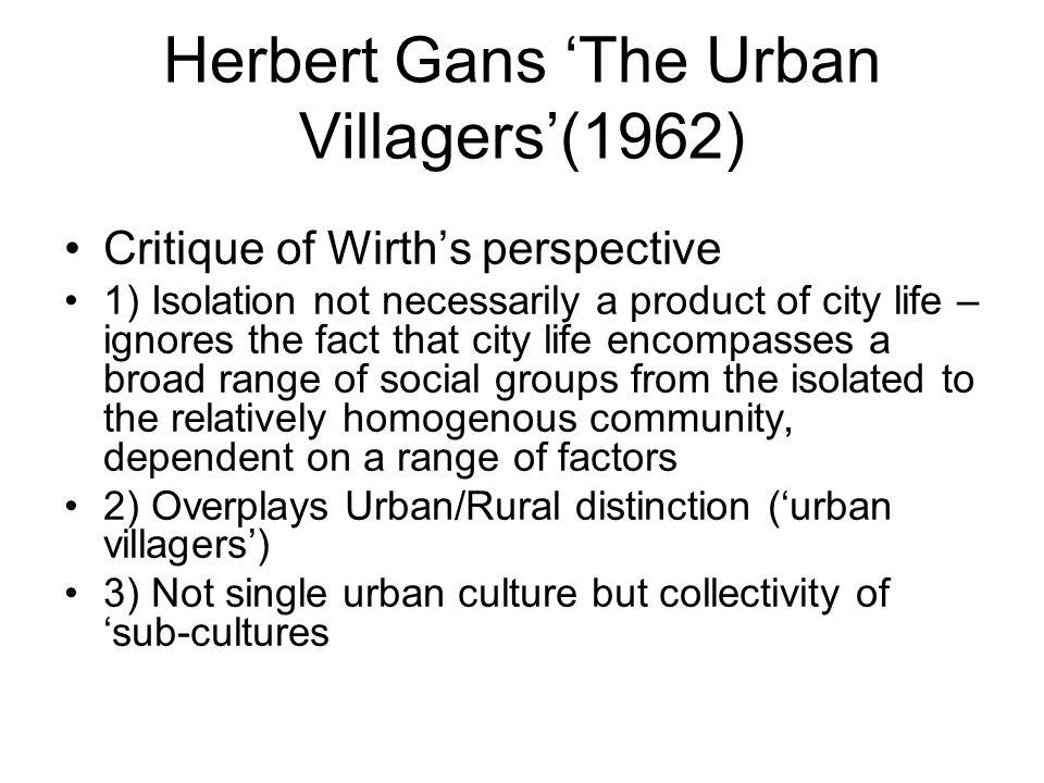 Herbert Gans 'The Urban Villagers'(1962)