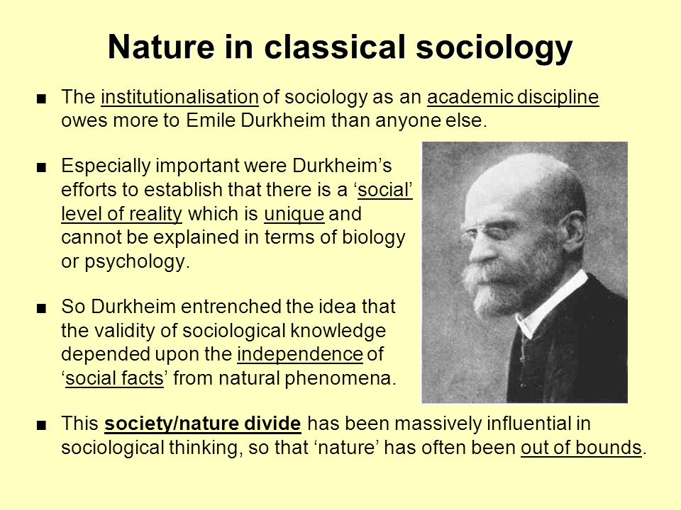 Nature in classical sociology
