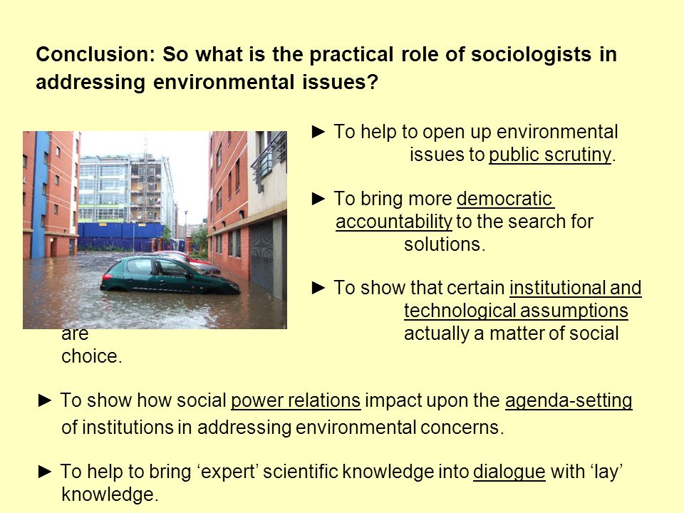 Conclusion: So what is the practical role of sociologists in