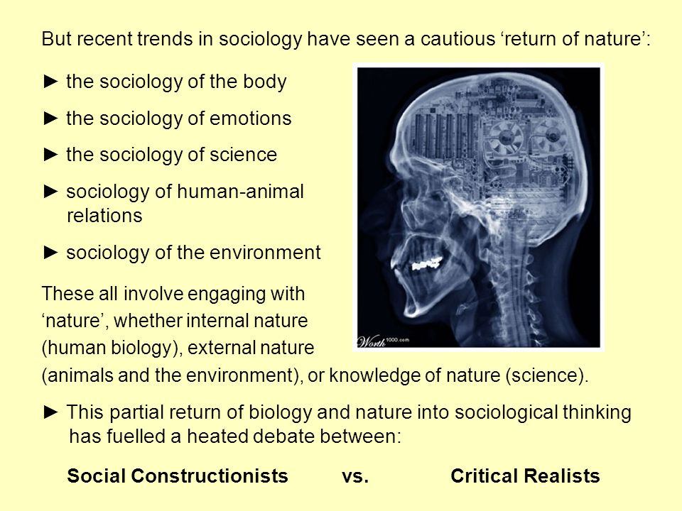 ► the sociology of the body ► the sociology of emotions