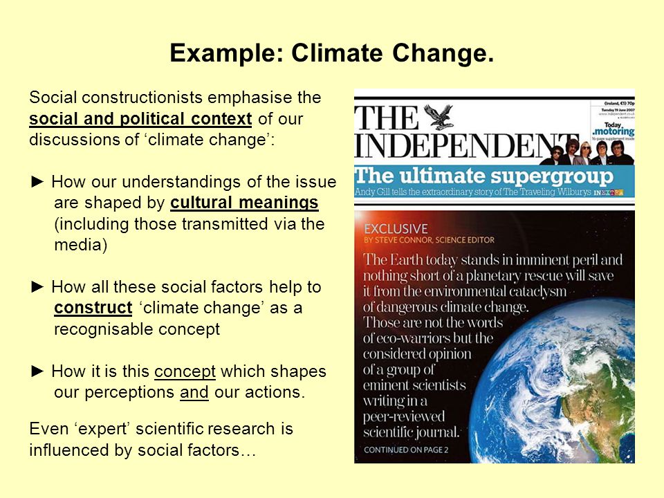 Example: Climate Change.