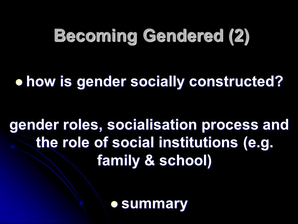 how is gender socially constructed
