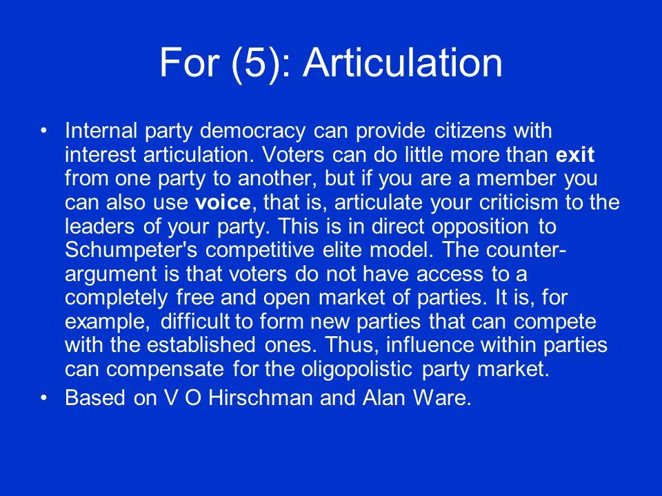 For (5): Articulation