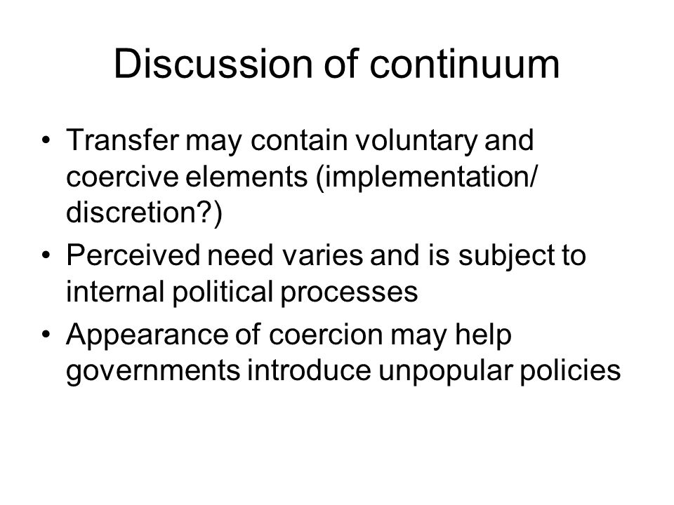 Discussion of continuum