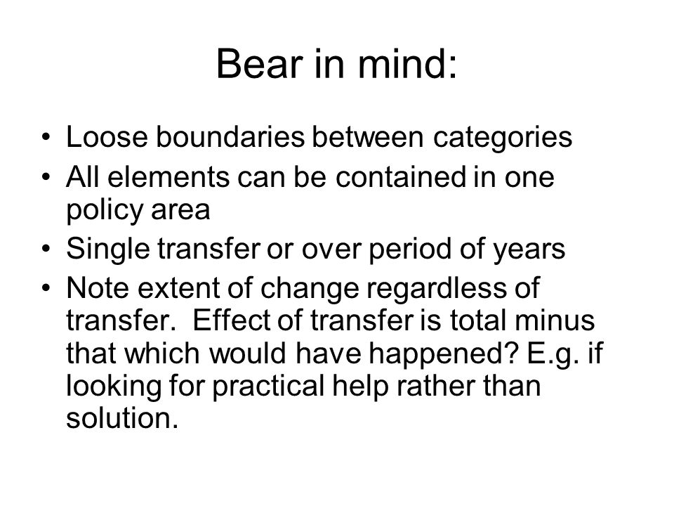 Bear in mind: Loose boundaries between categories