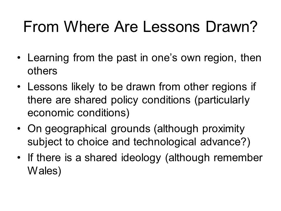From Where Are Lessons Drawn