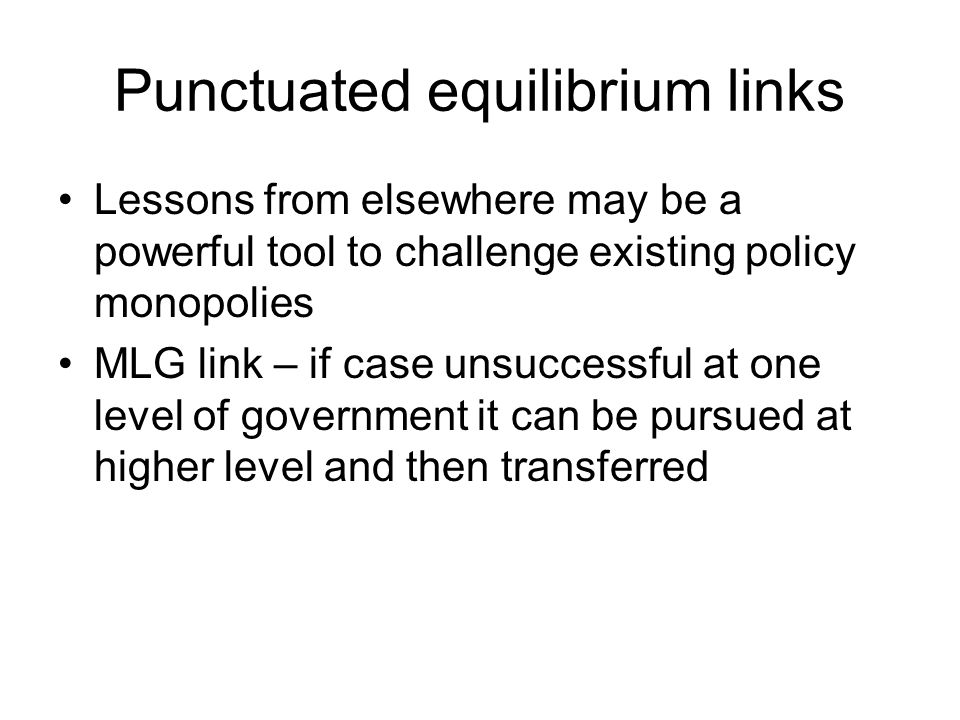 Punctuated equilibrium links