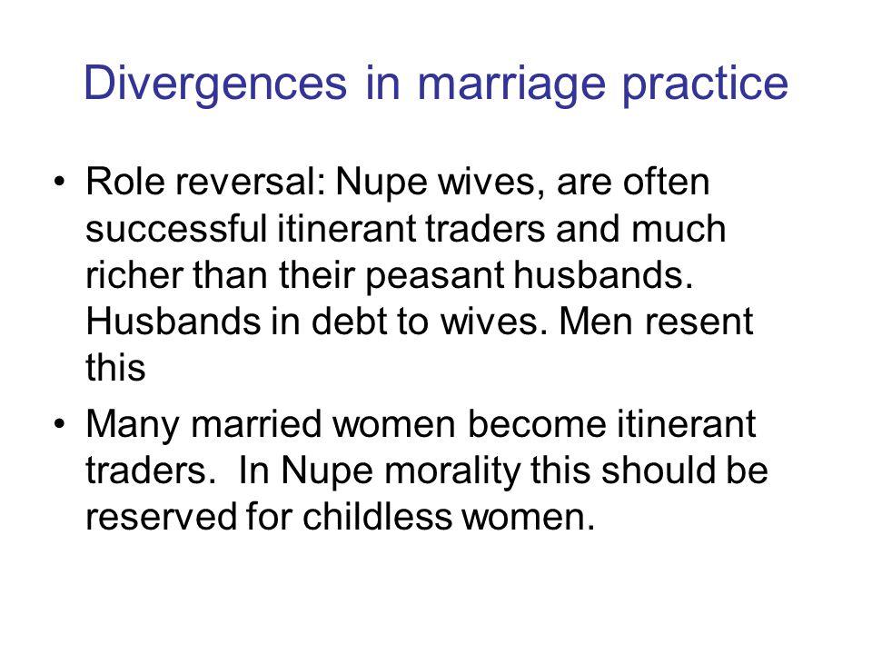 Divergences in marriage practice