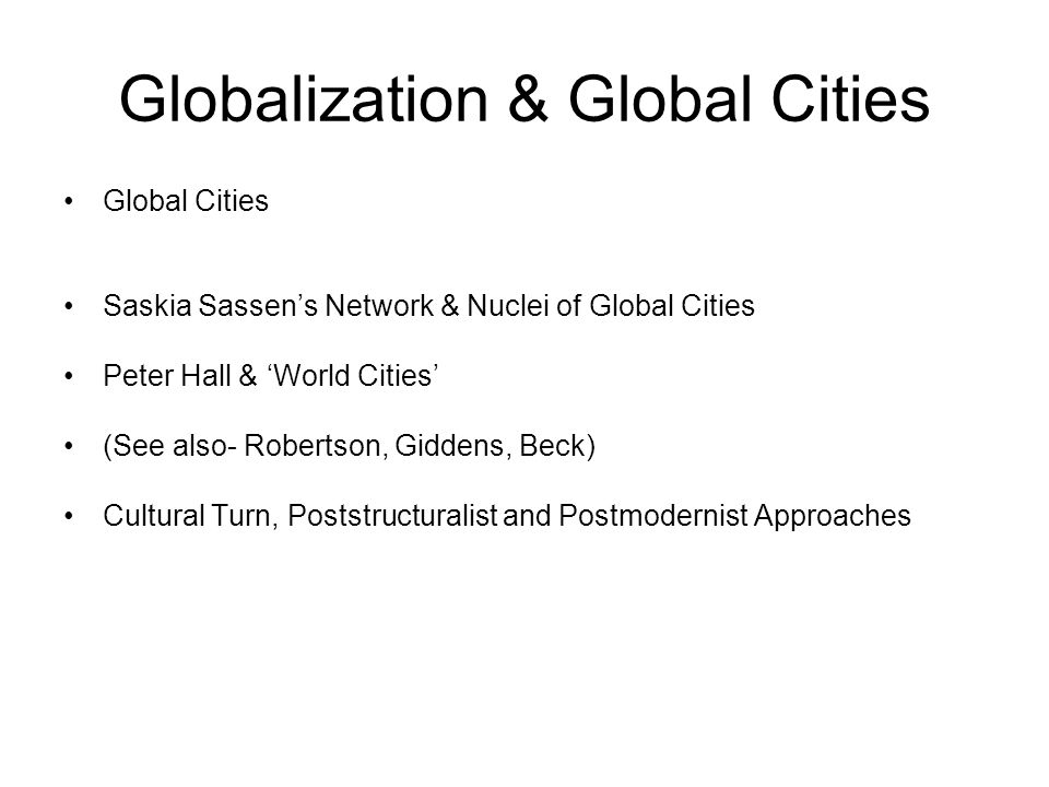 Globalization & Global Cities