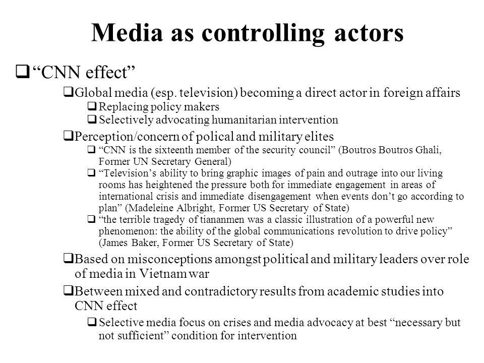 Media as controlling actors