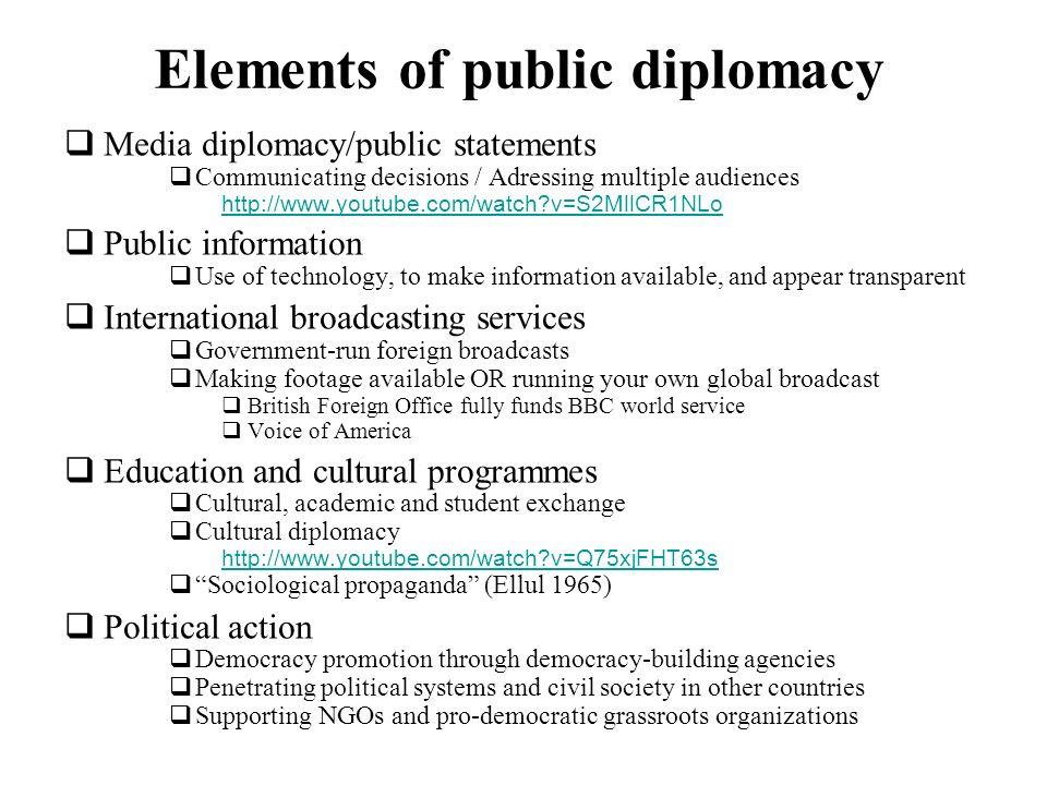 Elements of public diplomacy