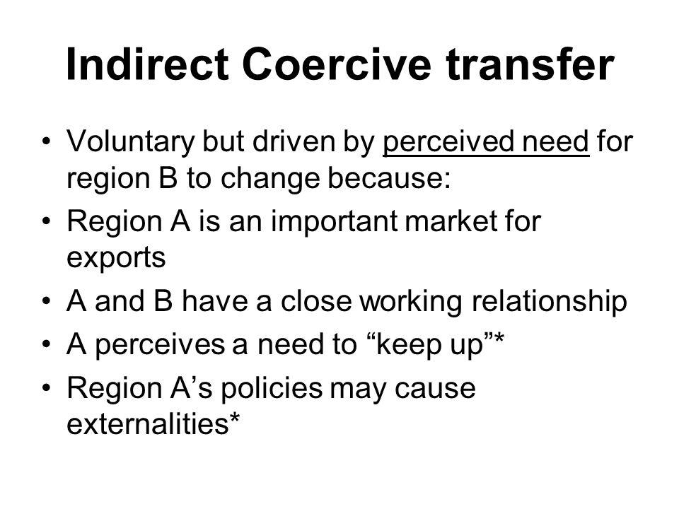 Indirect Coercive transfer
