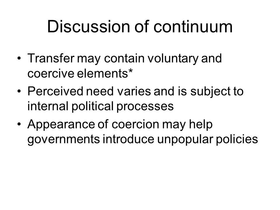 Discussion of continuum