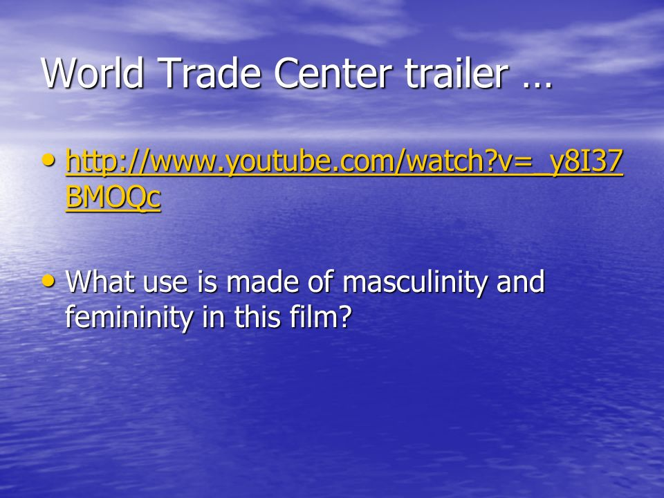 World Trade Center trailer …