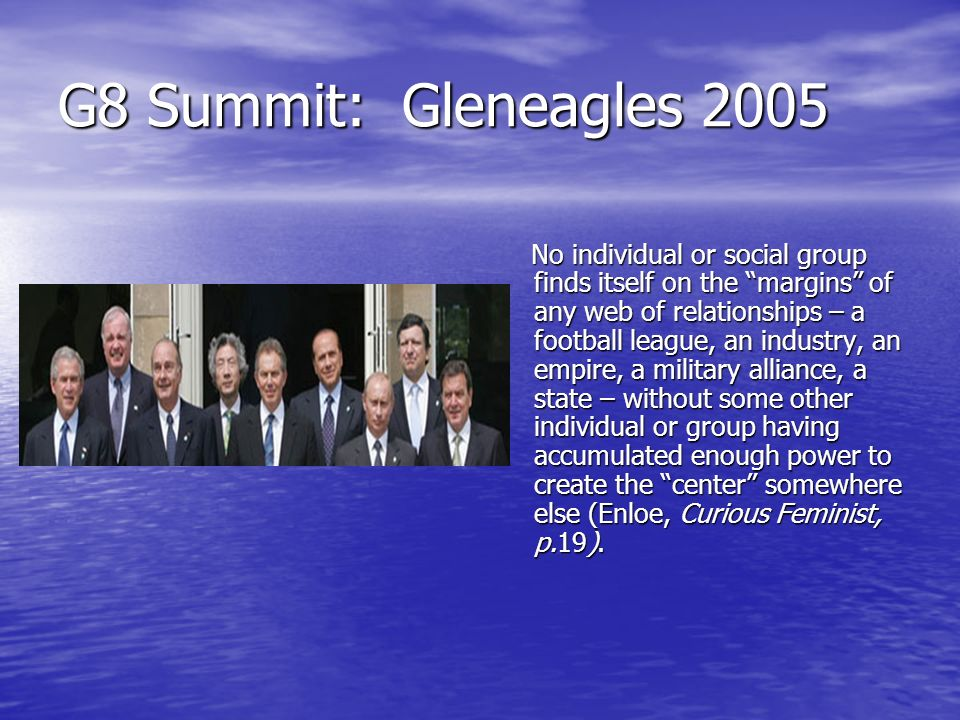 G8 Summit: Gleneagles 2005