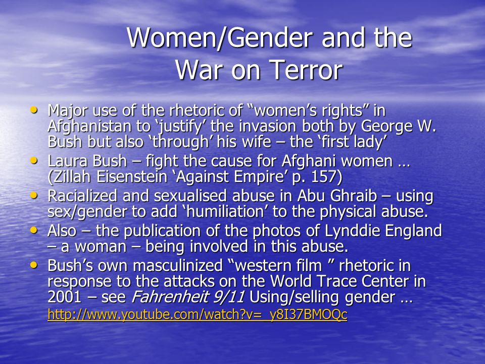 Women/Gender and the War on Terror