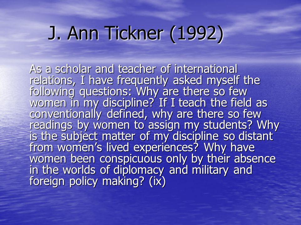 J. Ann Tickner (1992)