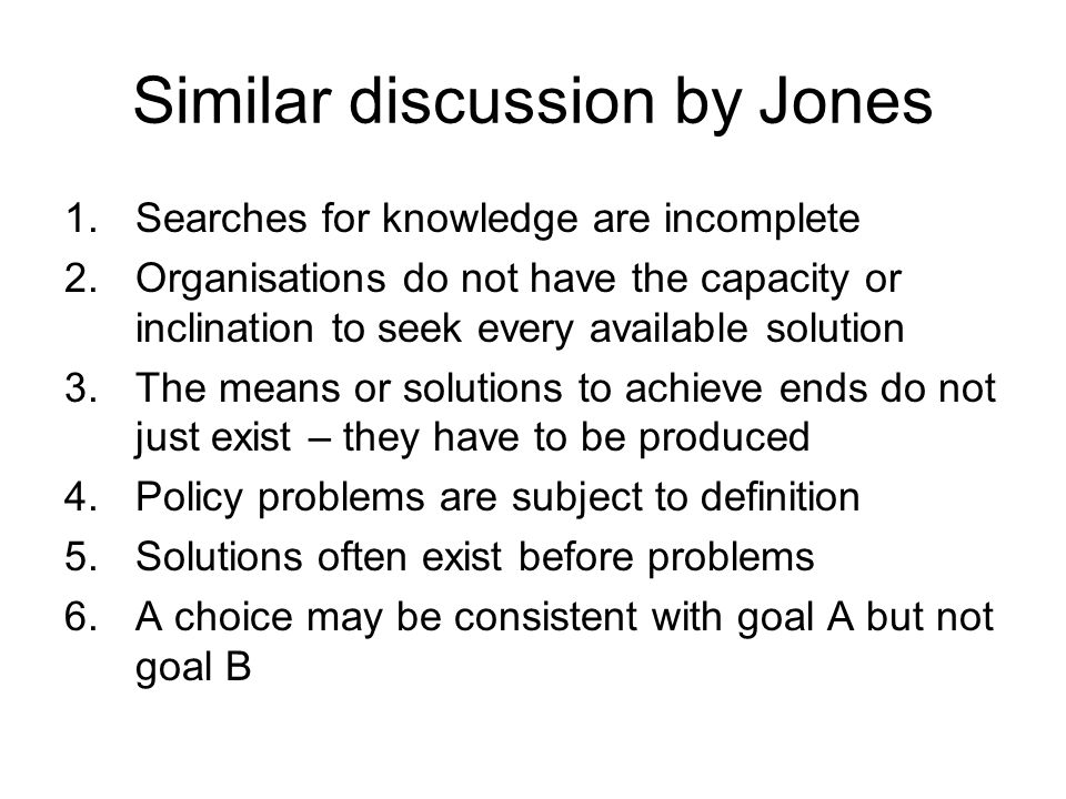Similar discussion by Jones