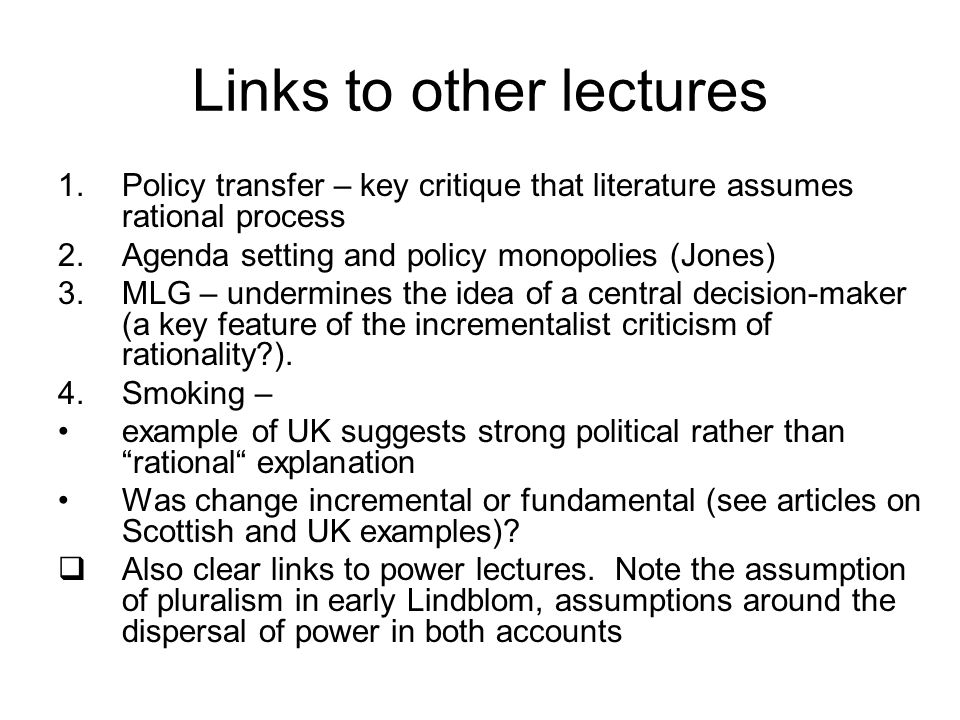 Links to other lectures
