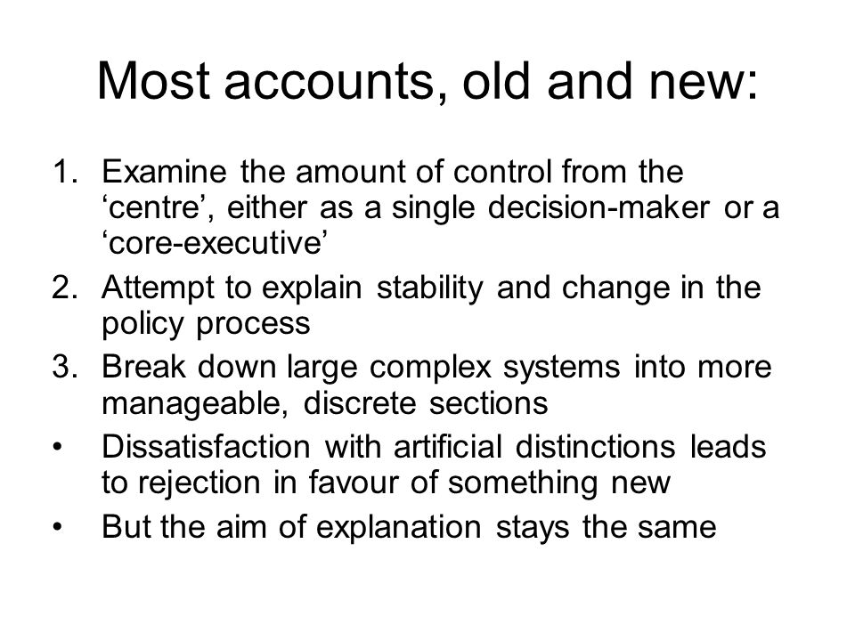 Most accounts, old and new: