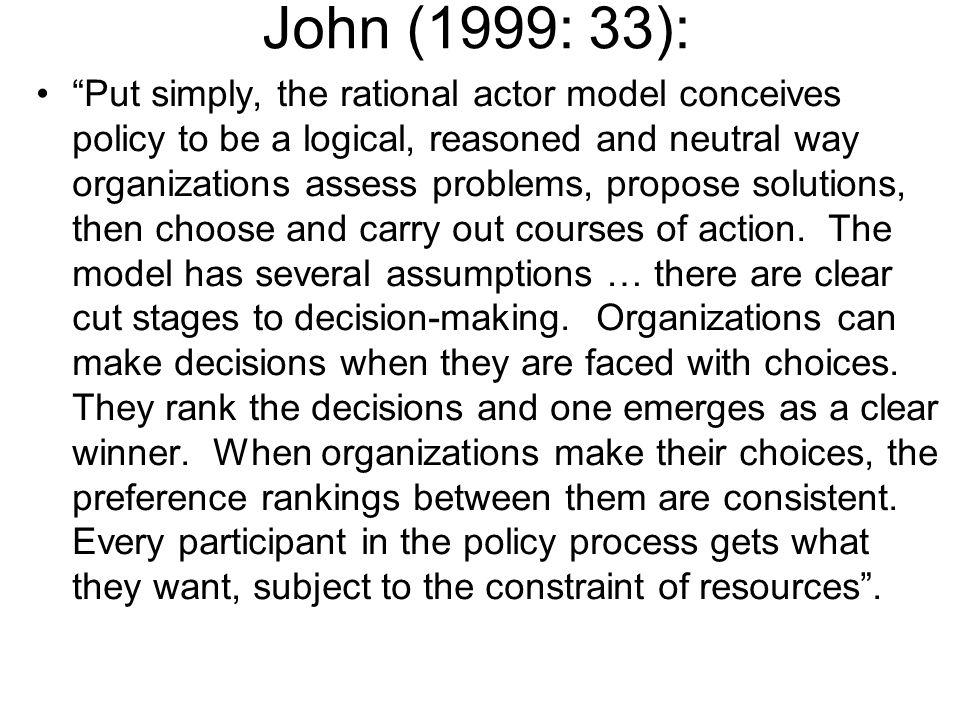 John (1999: 33):