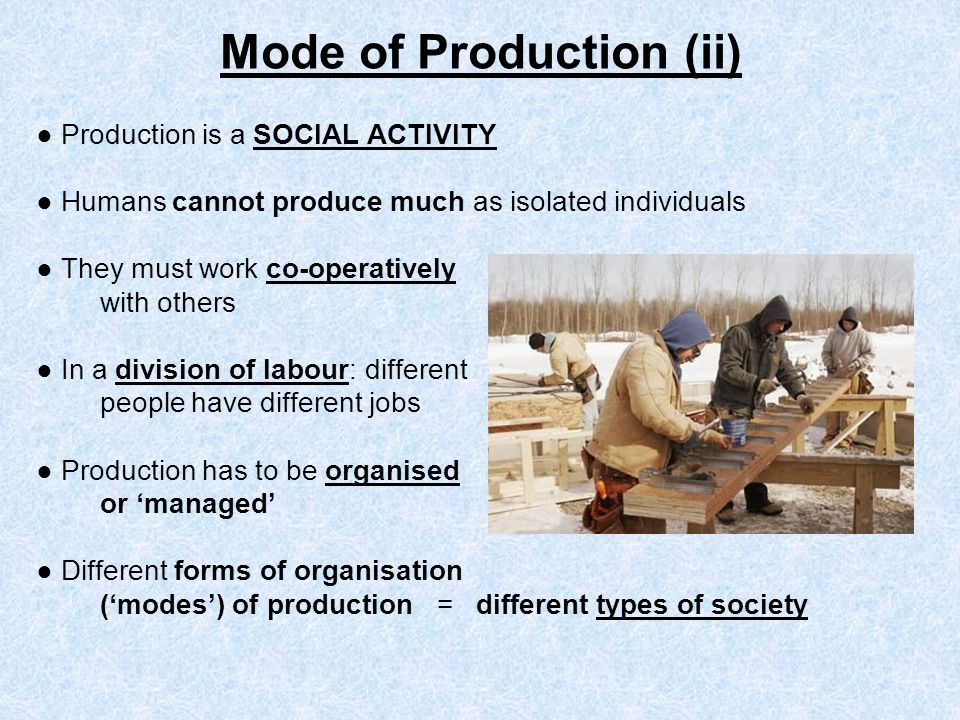 Mode of Production (ii)
