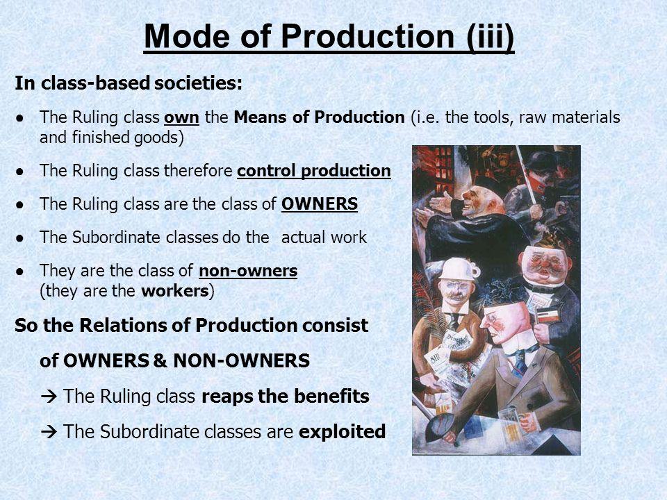 Mode of Production (iii)