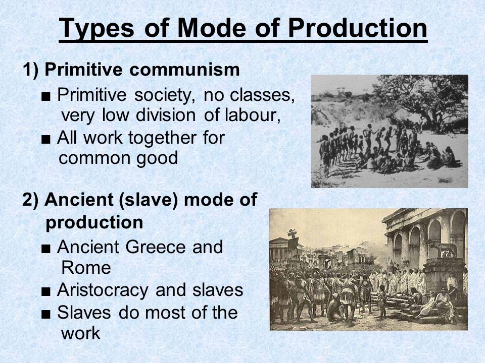 Types of Mode of Production