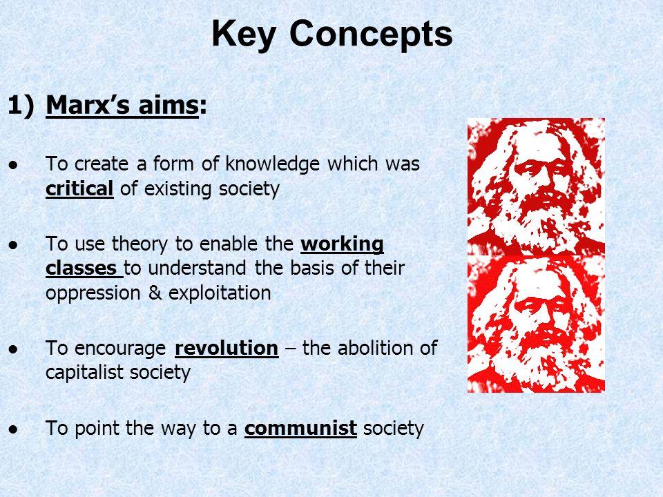 Key Concepts Marx's aims: