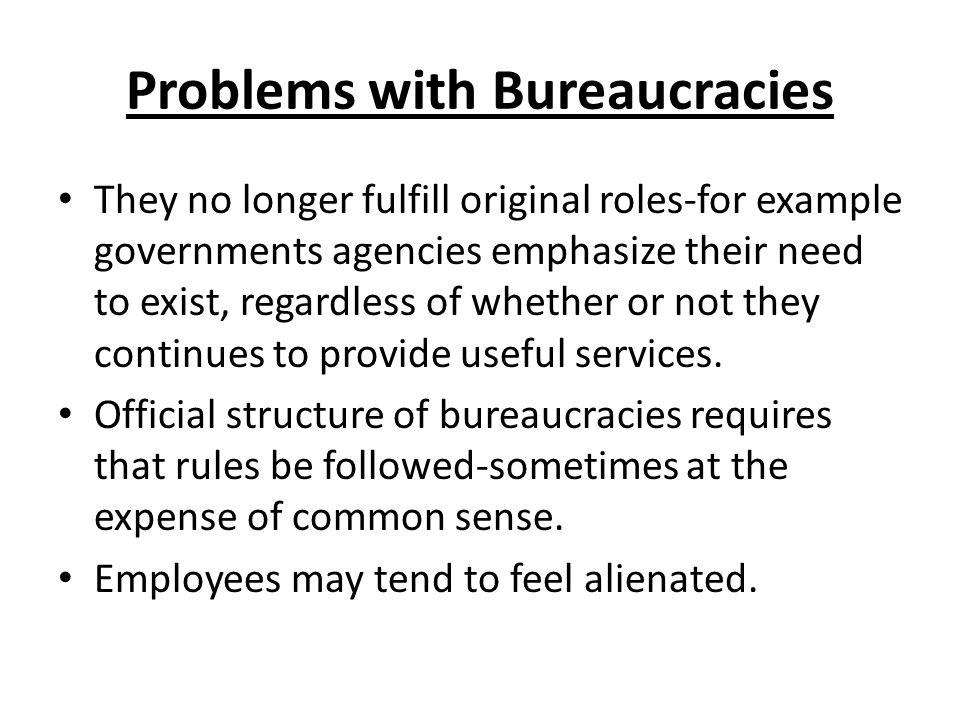 Problems with Bureaucracies