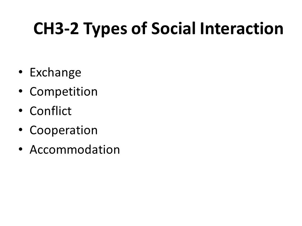 CH3-2 Types of Social Interaction