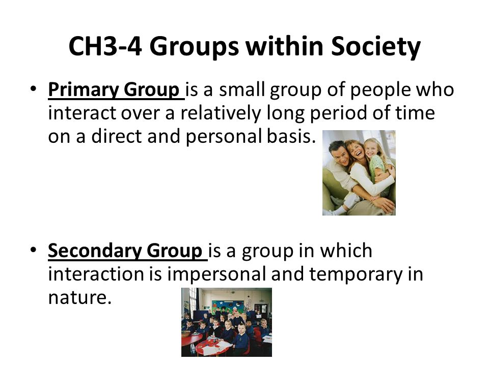 CH3-4 Groups within Society