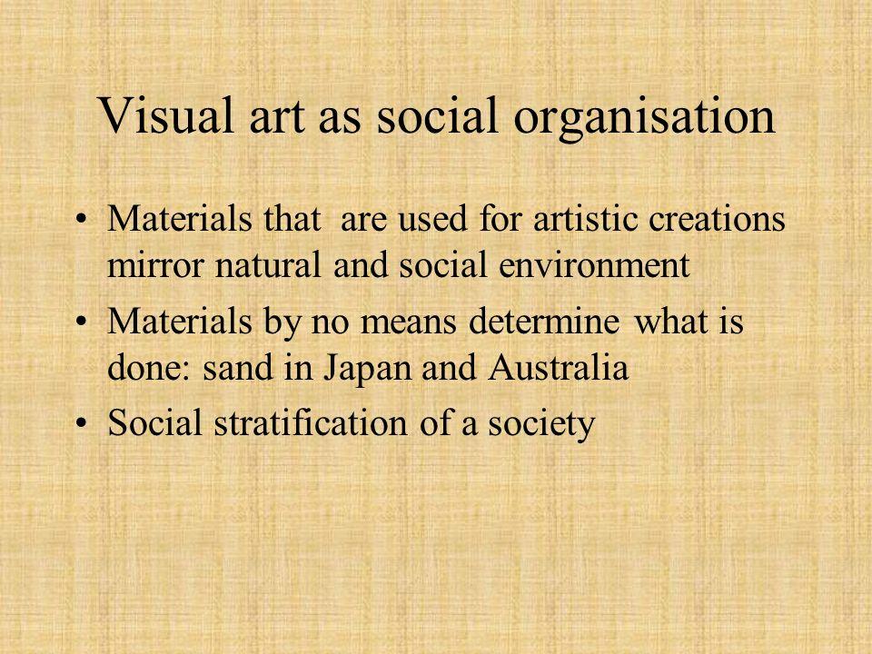 Visual art as social organisation