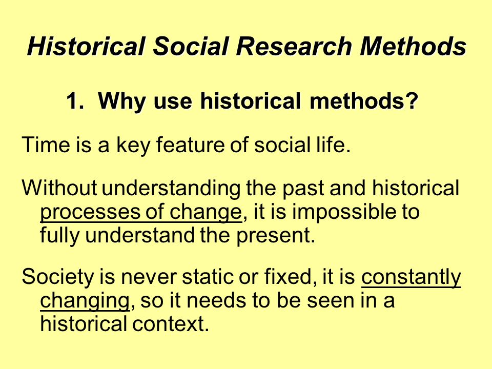 Historical Social Research Methods