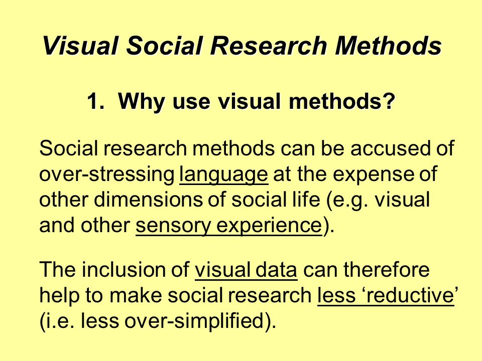 Visual Social Research Methods